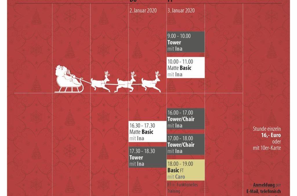 Kurse in den Weihnachtsferien